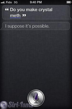 Do You Make Crystal Meth? - Siri Quotes