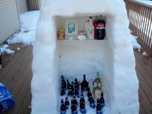 funny fridge snow refrigerator winter