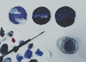 pretty tumblr hipster indie Grunge space galaxy pastel paint pale ...