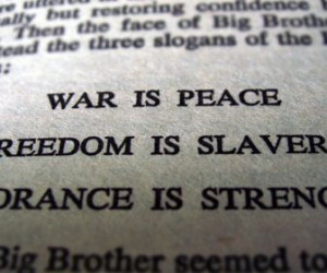 text quotes 1984 george orwell literature big brother HD Wallpaper of ...
