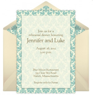 dinner by integrating clever wording for the rehearsal dinner ...