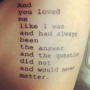 Awesome Poem Tattoo On Left Sleeve