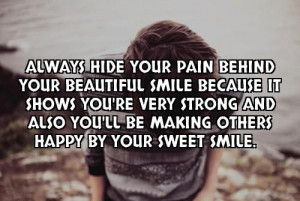 quotes about hiding behind a smile