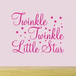 Twinkle Little Star - Nursery rhyme wall sticker - WA009X