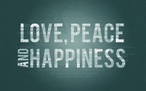 Love peace happiness Wallpapers Pictures Photos Images