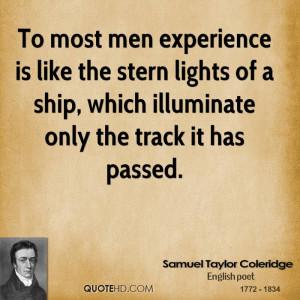 Samuel Taylor Coleridge Experience Quotes