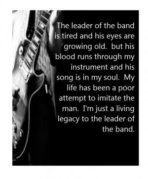 Dan Fogelberg - Leader of the Band - song lyrics music lyrics
