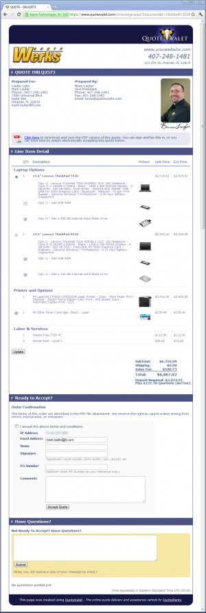 QuoteValet ® — Modern Quote Delivery ™