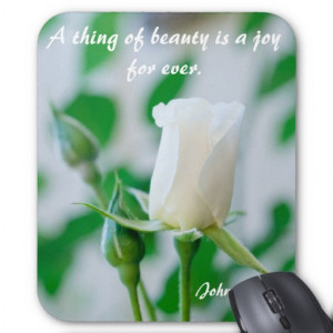 File Name : vertical_mousemat_white_rose_keats_quote ...