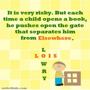 Lois Lowry on the power of a book. Created by www.write4kids.com
