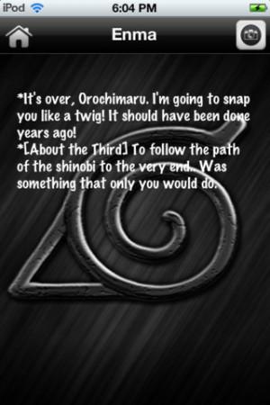 Download Naruto Quotes iPhone iPad iOS