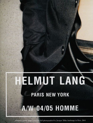 The Helmut Lang branding is lovely and direct. Fashion, Lang Brand ...