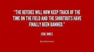 The referee will now keep track of the time on the field and the ...