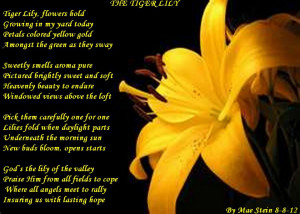 Poems About Lilies Flowers
