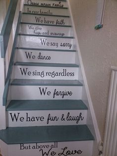 Staircase quotes on Etsy, $50.00