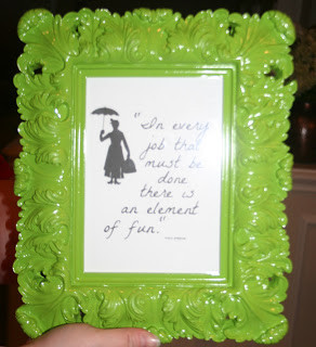 ... Lisa found some FREE Disney quotes and made this very cute frame