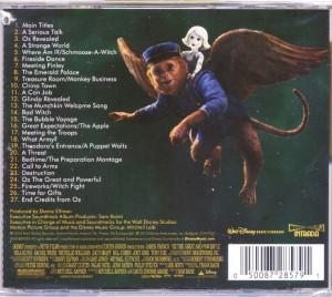 The original soundtrack to Oz the Great and Powerful will be released ...