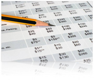 SR22 Insurance Cost Sheet with Numbers