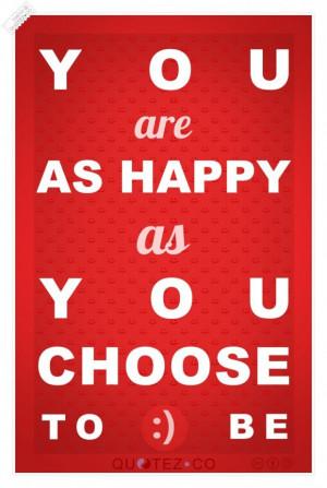 Choose happy quote
