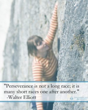 long race; it is many short races one after another.