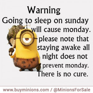 Minion Funny About Monday