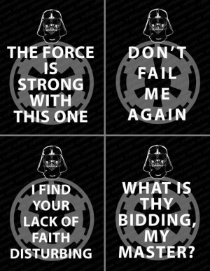 Star Wars Inspired Darth Vader Quotes Digital Prints by www.craftbliss ...