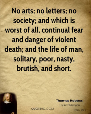 Thomas Hobbes Death Quotes