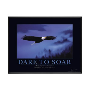 Dare to Soar - Nice Attitude Quote
