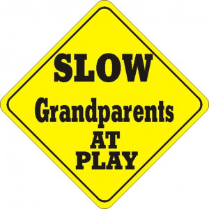 grandparents funny sign play