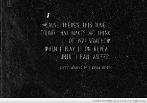 Arctic Monkeys Framed Quote