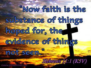 Hebrew11:1