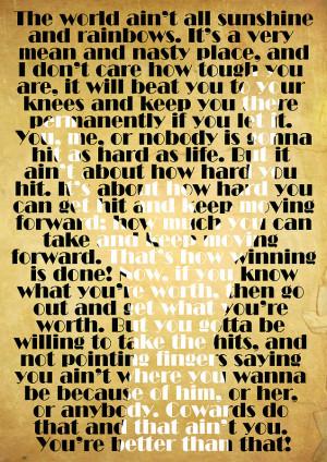 Rocky Balboa Quote Poster Digital Art