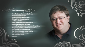 Gabe Newell The Lard's Prayer Prayer text humor wallpaper background