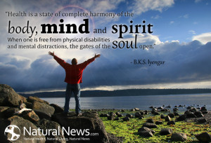 Health is a state of complete harmony of the body, mind and spirit ...