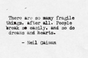 Fragile Things by Neil Gaimansubmission from speaktomeofsadness