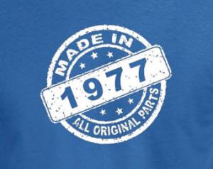 Made In 1977 Vintage 37th Birthday Gift Present T Shirt T-Shirt Tshirt ...