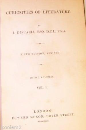 Isaac D'Israeli   eBay - 1834, 6 volumes - $48