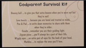Details About Godparent Survival Kit Godmother Godfather Thank You
