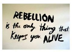 rebellion if i didn t their would be nothing to live for