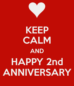 happy 2nd anniversary happy 2nd anniversary happy second year ...