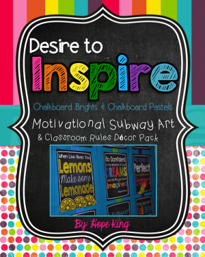 Desire to Inspire {Chalkboard Style}