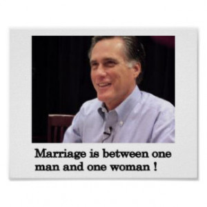 Mitt Romney Quote about Marriage Print