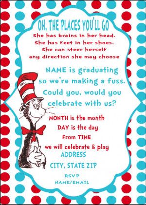 Dr Seuss Graduation Party