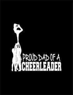 Cheer Stunt Prep Silhouette Proud dad of a cheerleader