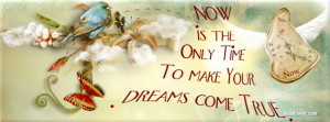 Now is the only time to make your dreams come true Facebook Cover
