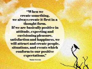Just a little reminder: our thoughts thorougly influence our life ...