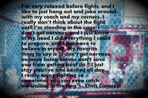 Chris Camozzi: I Don't Get Nervous before fights