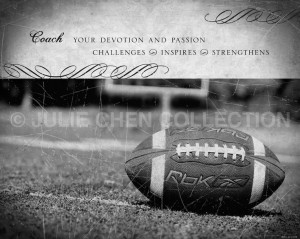 Football Coach Inspirational Art Keepsake 8x10 Fine Art Print Family ...