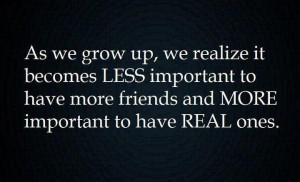 ... Wallpaper on Realize : As we grow up, we realize it becomes less