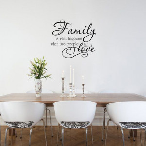 Family Love Quote Vinyl Wall Decal Sticker Art-Words/Lettering Home ...
